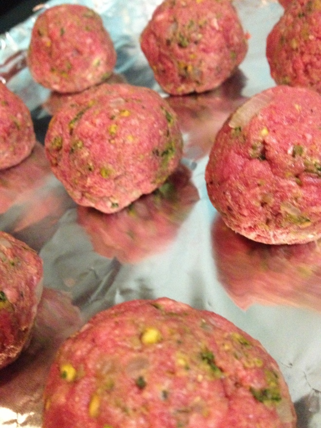 pistachio meatballs 2
