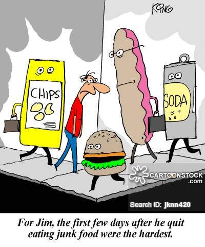 For Jim, the first few days after he quit eating junk food were the hardest.